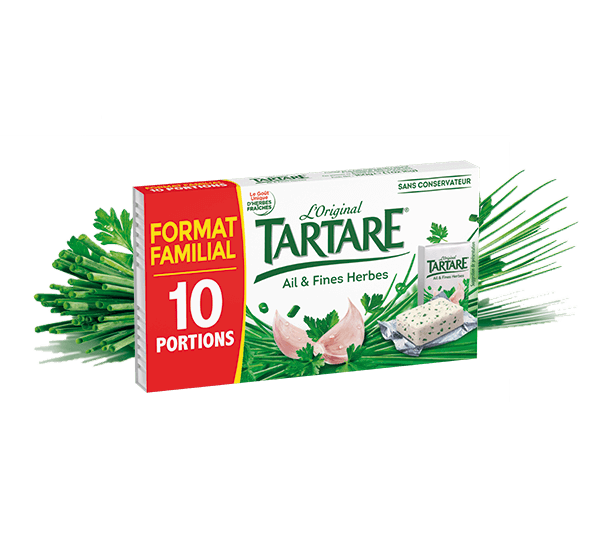 Tartare® Ail & Fines Herbes 10 portions 160g